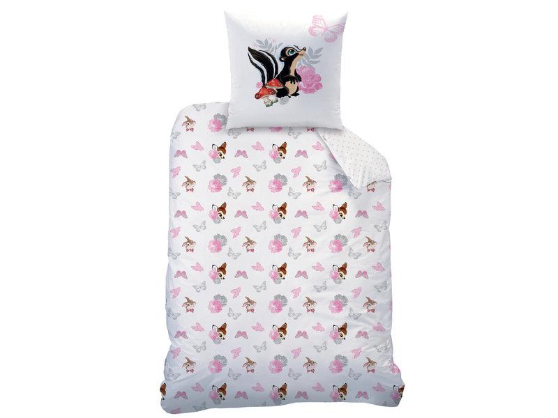 Disney Bambi Retro - Duvet cover - Single - 140 x 200 cm - White