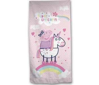 Peppa Pig 2-in-1 Beach towel + Gymbag 70 x 140 + 43 x 32