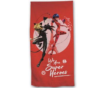 Miraculous Strandlaken Super Heroes 70 x 140 Polyester