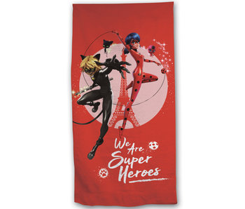 Miraculous Strandtuch Super Heroes 70 x 140 Polyester