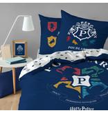 Harry Potter Dekbedovertrek Poudlard - Eenpersoons - 140  x 200 cm - Katoen
