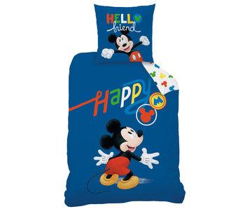 Disney Mickey Mouse Bettbezug Happy 140 x 200 Baumwolle