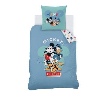 Disney Mickey Mouse Housse de couette Friends 140 x 200 Coton