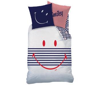 Smiley Bettbezug Marine 140 x 200 Baumwolle