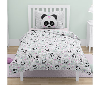 Panda Dekbedovertrek Unicorn Stippen 140 x 200