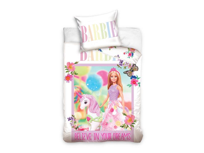 Barbie BABY Dekbedovertrek Unicorn - 100 x 135 cm - Katoen