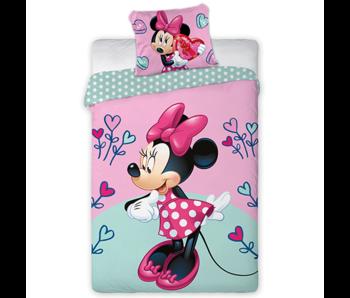 Disney Minnie Mouse Dekbedovertrek Flower Heart 140 x 200