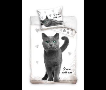 Animal Pictures Housse de couette Cute Cat 140 x 200