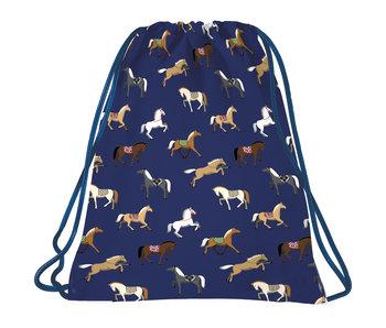 BackUP Gymbag Horses - 45 x 35 cm