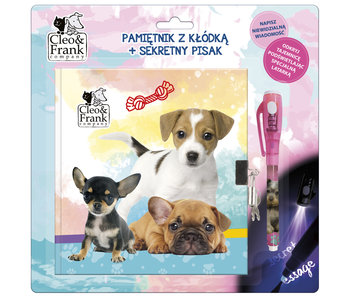 Cleo & Frank Diary of Puppies with Invisible Ink Pen