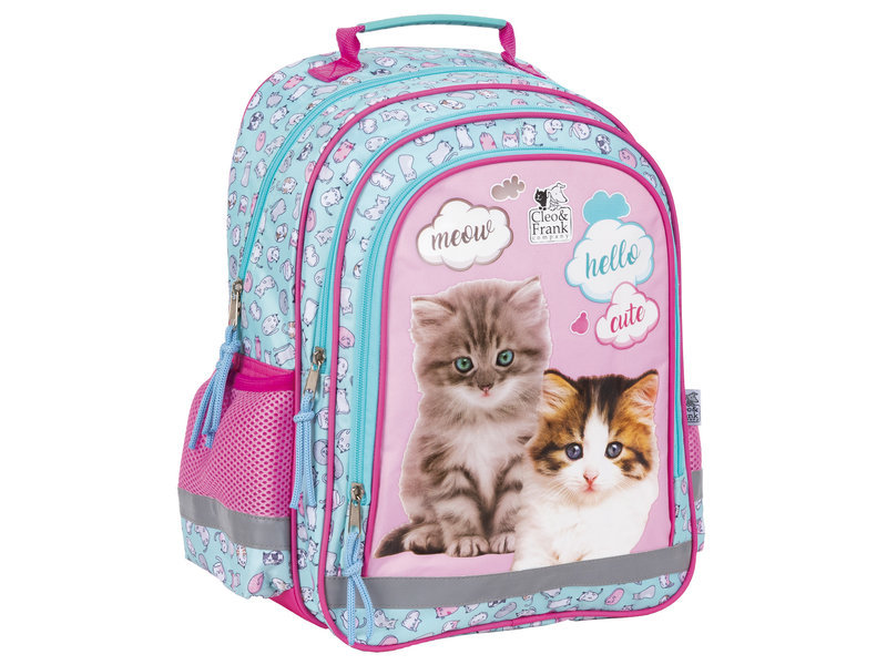 Cleo & Frank Backpack Kittens - 38 x 28 x 17 cm - Polyester