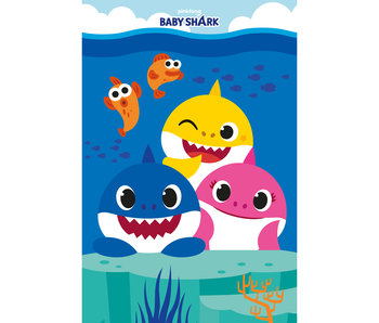Baby Shark Couverture polaire Family 100 x 150 cm