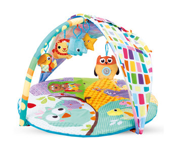 Kidwell Baby gym with 5 toys - 84 x 84 cm