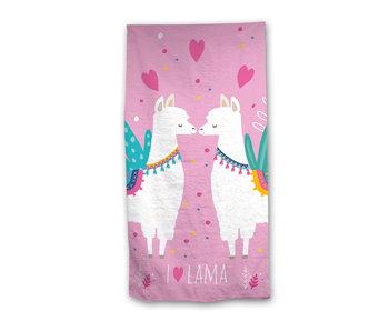 Lama Beach towel Hearts 70 x 140 cm