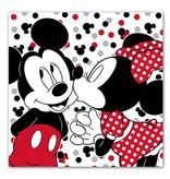 Disney Minnie Mouse en Mickey Mouse kussen met geheim vak - 40 x 40 cm - polyester