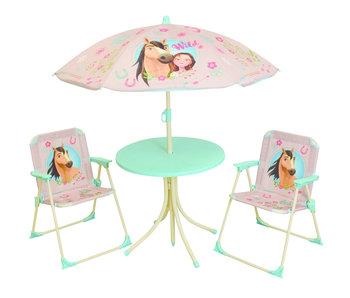 Spirit Garden set 4-piece - 2 Chairs + Table + Parasol