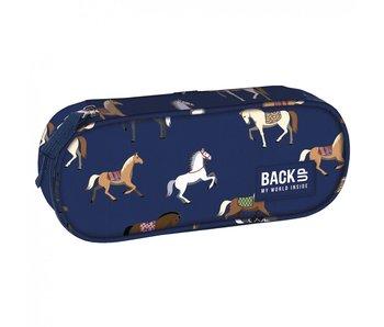 BackUP Pencil case Horses - 22 cm