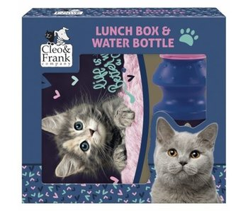 Cleo & Frank Set Lunchbox + Bouteille Chaton