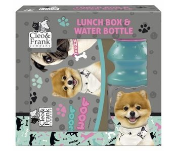 Cleo & Frank Set Lunchbox + Bidon Woof Woof