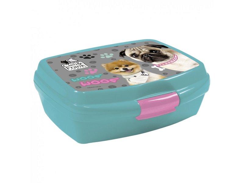 Cleo & Frank Set Lunchbox + Bidon Woof Woof - Polypropyleen