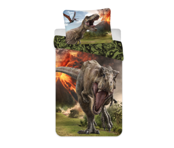 Jurassic World Dekbedovertrek Vulkaan 140 x 200 Katoen