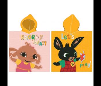 Bing Bunny Poncho Hourra aujourd'hui 50 x 115 cm
