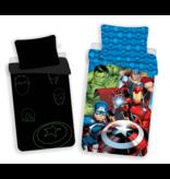 Marvel Avengers Dekbedovertrek Glow in the Dark - Eenpersoons - 140 x 200 cm - Katoen