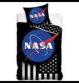 NASA Dekbedovertrek Stars & Stripes - Eenpersoons - 140  x 200 cm - Katoen