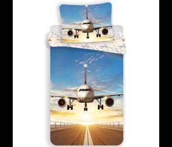 Vliegtuig housse de couette Explore the World 140 x 200 cm 70 x 90 cm Coton