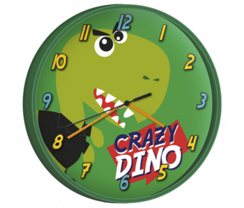 Dinosaurus Wall clock Crazy Dino - ø 24 cm