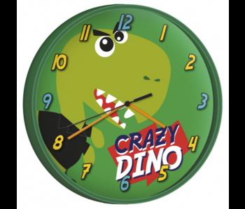 Dinosaurus Wandklok Crazy Dino - ø 24 cm