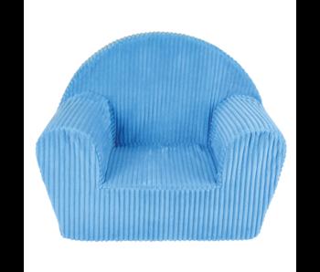 Jemini Fauteuil en velours côtelé bleu 42 x 52 x 33 cm