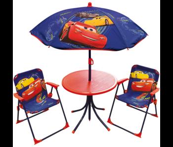Disney Cars Garden set 4-piece - 2 Chairs + Table + Parasol