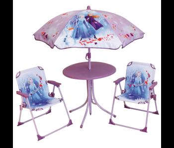 Disney Frozen Ensemble de jardin 4 pièces - 2 Chaises + Table + Parasol