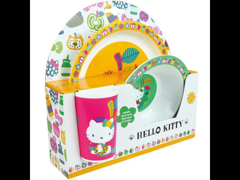 Hello Kitty Ontbijtsetje - 3 delig - Polypropyleen