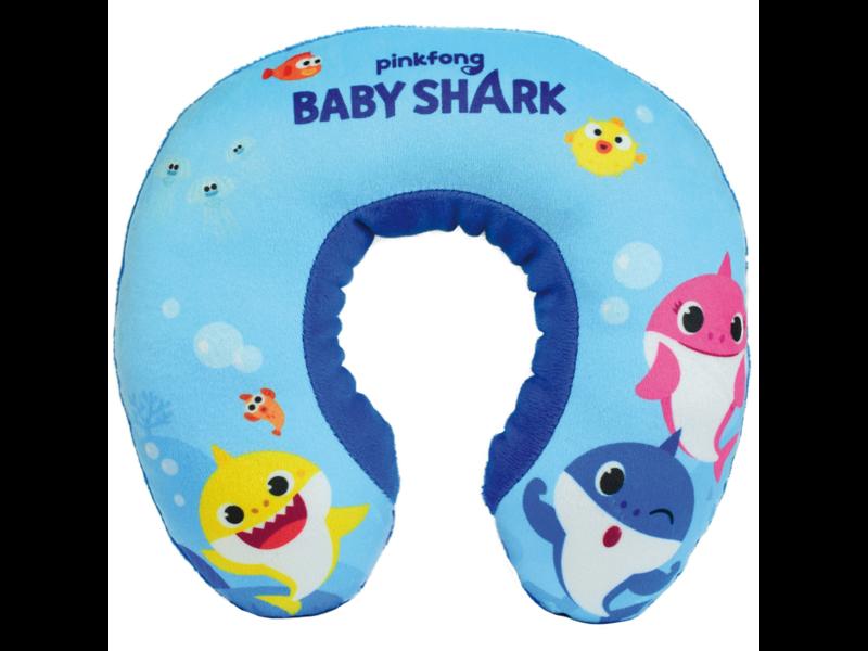 Baby Shark Nekkussen - 19 x 22 x 5 cm - Blauw
