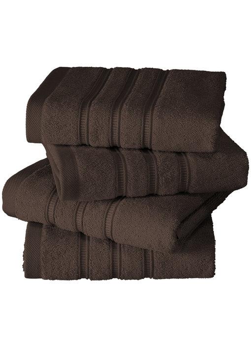 De Witte Lietaer luxury kitchen towel Dolce brown 4 pieces 60x60 cm