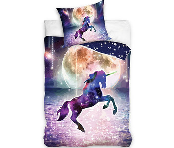 Unicorn Dekbedovertrek Moondancing 140 x 200 Katoen