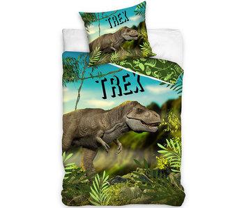 Dinosaurus housse de couette Trex 140 x 200 cm 60 x 70 cm Coton