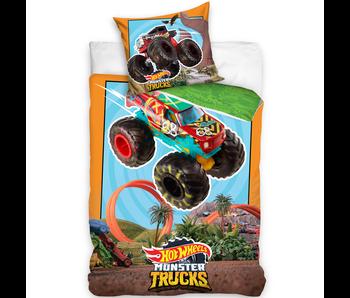 Hot Wheels Dekbedovertrek Monster Trucks 140 x 200 cm Katoen