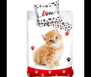 Animal Pictures Duvet cover Kitten Love 140 x 200 Cotton