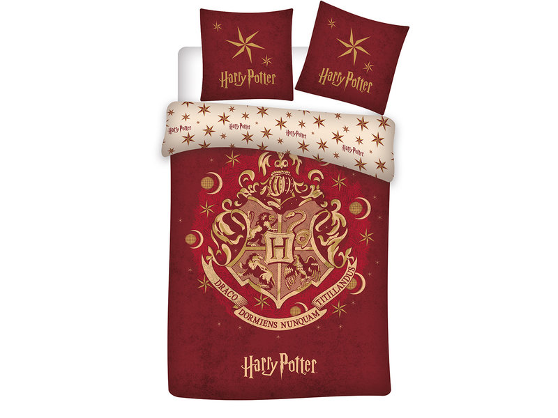 Harry Potter Housse de couette - Simple - 140 x 200 cm - Coton Bio
