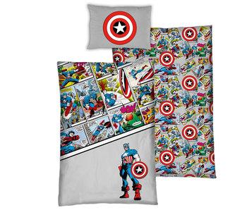 Marvel Avengers Housse de couette Comics 140 x 200 Bio Coton