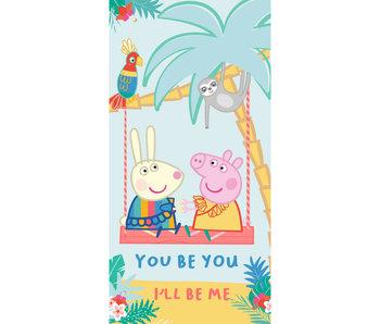 Peppa Pig Beach towel You Be You 70 x 140 cm Cotton