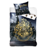 Harry Potter Housse de couette Or - Simple - 140 x 200 cm - Coton