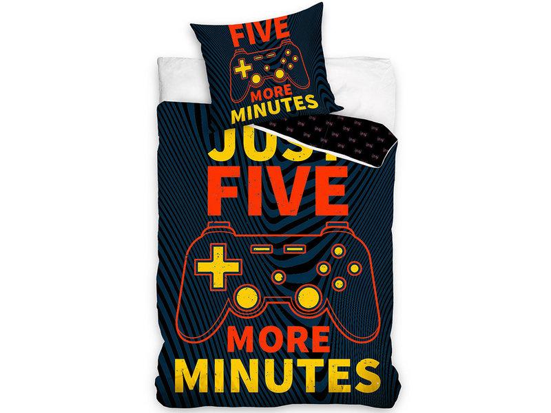 Gamer Housse de couette Five Minutes - Simple - 140 x 200 cm - Coton