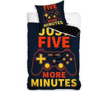 Gamer Housse de couette Five Minutes 140 x 200 Coton
