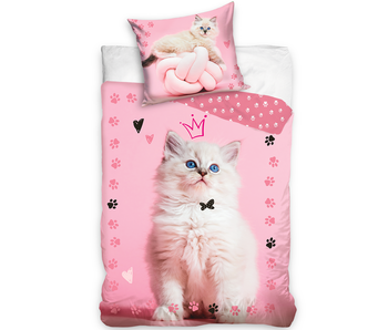 Animal Pictures Housse de couette Queen Kitten 140 x 200 Coton