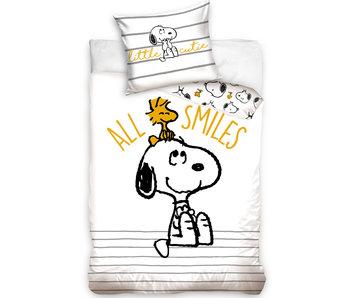 Snoopy Dekbedovertrek All Smiles 140 x 200 Katoen