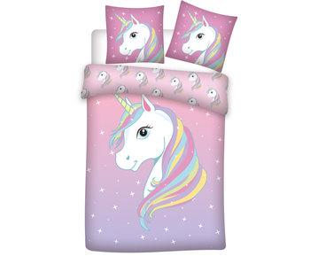 Unicorn Dekbedovertrek Sparkle 140 x 200 Katoen